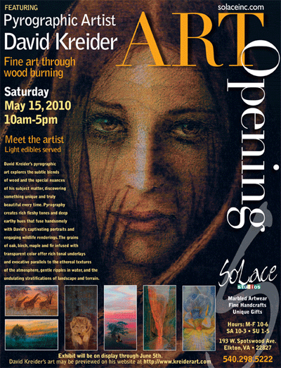 Art Show Calendar : Kreiderart galleries of pyrographic art show schedule